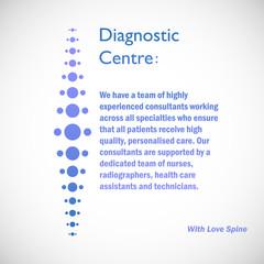 Spine diagnostic center logo on blue background