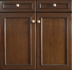 Front kitchen wooden frame cabinet door and drawers made from da