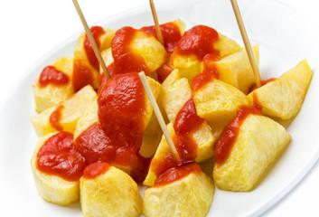 Detalle patatas bravas