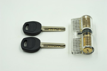 locksmith set of key maker transparent on isolate