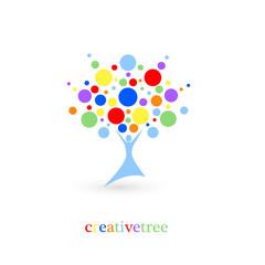creative tree logo, creative and bright idea logo, vector icon