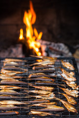 Smoked fish and fire