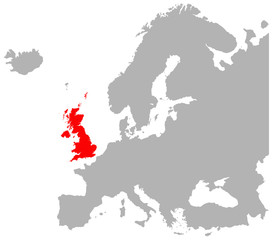 Europe And Britain In Red