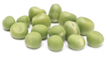 green peas on white