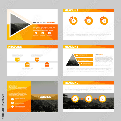 Infographic Ideas infographic proposal template : Orange Abstract presentation templates, Infographic elements ...