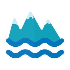 mountains and sea icon