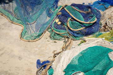Fisher net in harbour