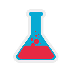 flask liquid science laboratory icon. Isolated and flat illustration. Vector graphic