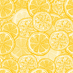 Lemon seamless pattern vintage citrus background