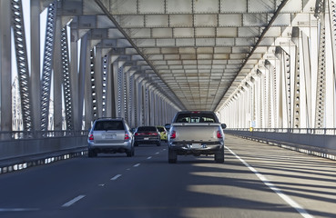 Cars at Richmond–San Rafael Bridge, California