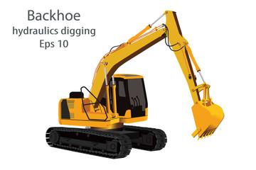 backhoe hydraulics digging machine