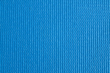Blue Fitness Yoga Mat Surface Texture Close Up
