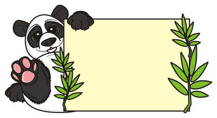Poster Ranch plate, clean, panda, animal, zoo, illustration, isolated, china, cartoon bear, Asia, Profile, preschool, bamboo,