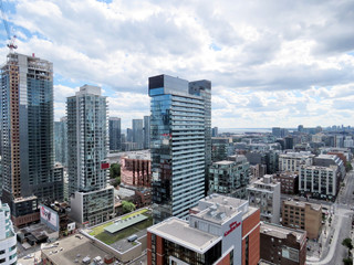 Toronto modern buildings in cloudy day 2016