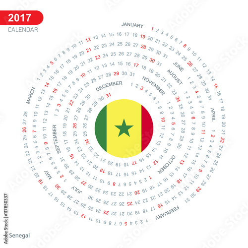 Calendar Illustration Search : Quot calendar senegal country flag circle button banner