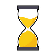 hourglass traditional time instrument icon. Isolated and flat illustration. Vector graphic
