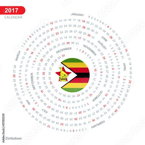 Calendar Zimbabwe : Quot calendar zimbabwe country flag circle button banner