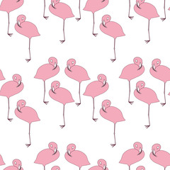 Pattern with flamingoes.