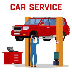 Car services - maintenance repair and diagnostics.