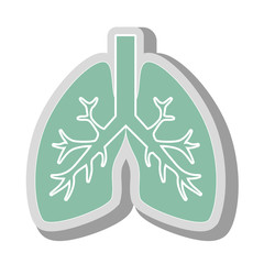 lungs human anatomy icon vector illustration