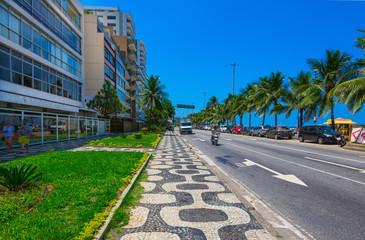 Avenida Vieira Souto and Ipanema beach in Ipanema, Rio de Janeiro. Brazil