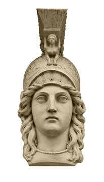 Classical Greek goddess Athena head sculpture