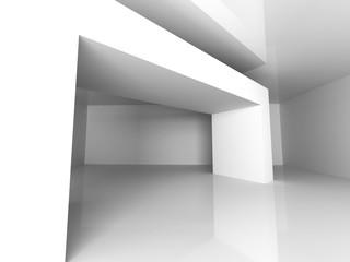 Abstract Interior Design. White Modern Architecture Background