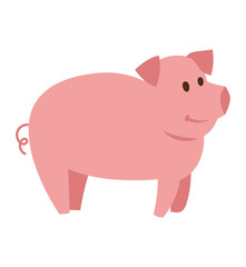 Pigs vector cartoon character
