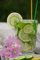 Sassi water in a glass