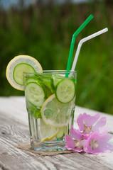 lemon cucumber mint water