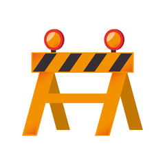 construction barricade barrier building zone vector graphic isolated and flat illustration