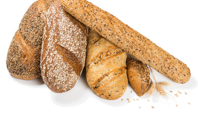 Different types of cereal bread