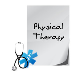 physical therapy medical documents isolated sign