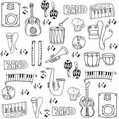 Doodle of stock collection music theme