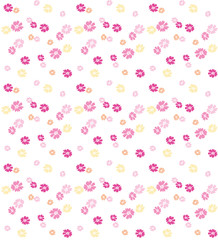 Ditsy floral pattern with small flowers
