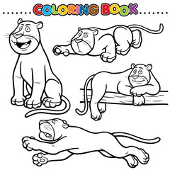 Cartoon Coloring Book - Panther