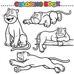 Cartoon Coloring Book - Panther