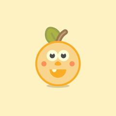 happy orange cartoon illustration vector