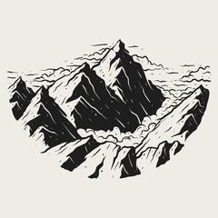 Illustration landscape mountains