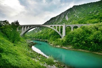 Poster Bridge Solkan Bridge