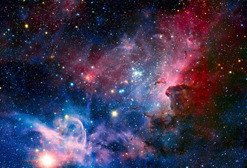Image of the Carina Nebula in infrared light.