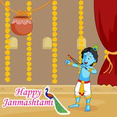Krishna Janmashtami Sale Background
