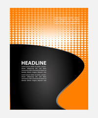 Vector Flyer Poster Template background