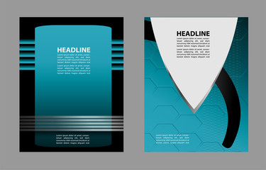 Background concept design for brochure or flyer, abstract vector illustration