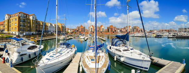 Sovereign Harbour Marina, Eastbourne, East Sussex, England
