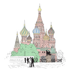 Sketch Of Moscow St. Basil's Cathedral