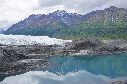 The Matanuska Glacier in Alaska