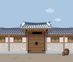Traditional Korean style house A