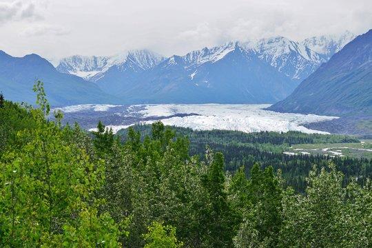 The Matanuska Glacier State Recreation Site in Alaska