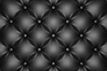 3D render of the black quilted leather pattern
